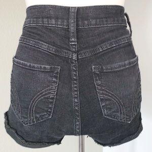 HOLLISTER Jean Shorts, Black, Size 25